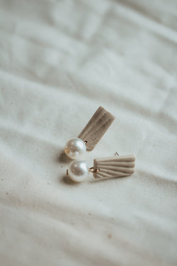 Cyprus Pearl and Clay Earrings