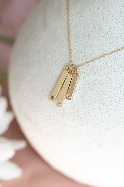 Build Your Family Layered Bar Necklace - Collaboration with Mona Harper
