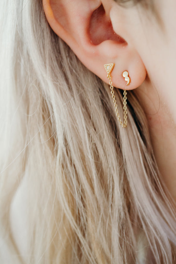 Minimal Semicolon Earrings