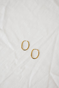 Essential Gold Oval Hoops