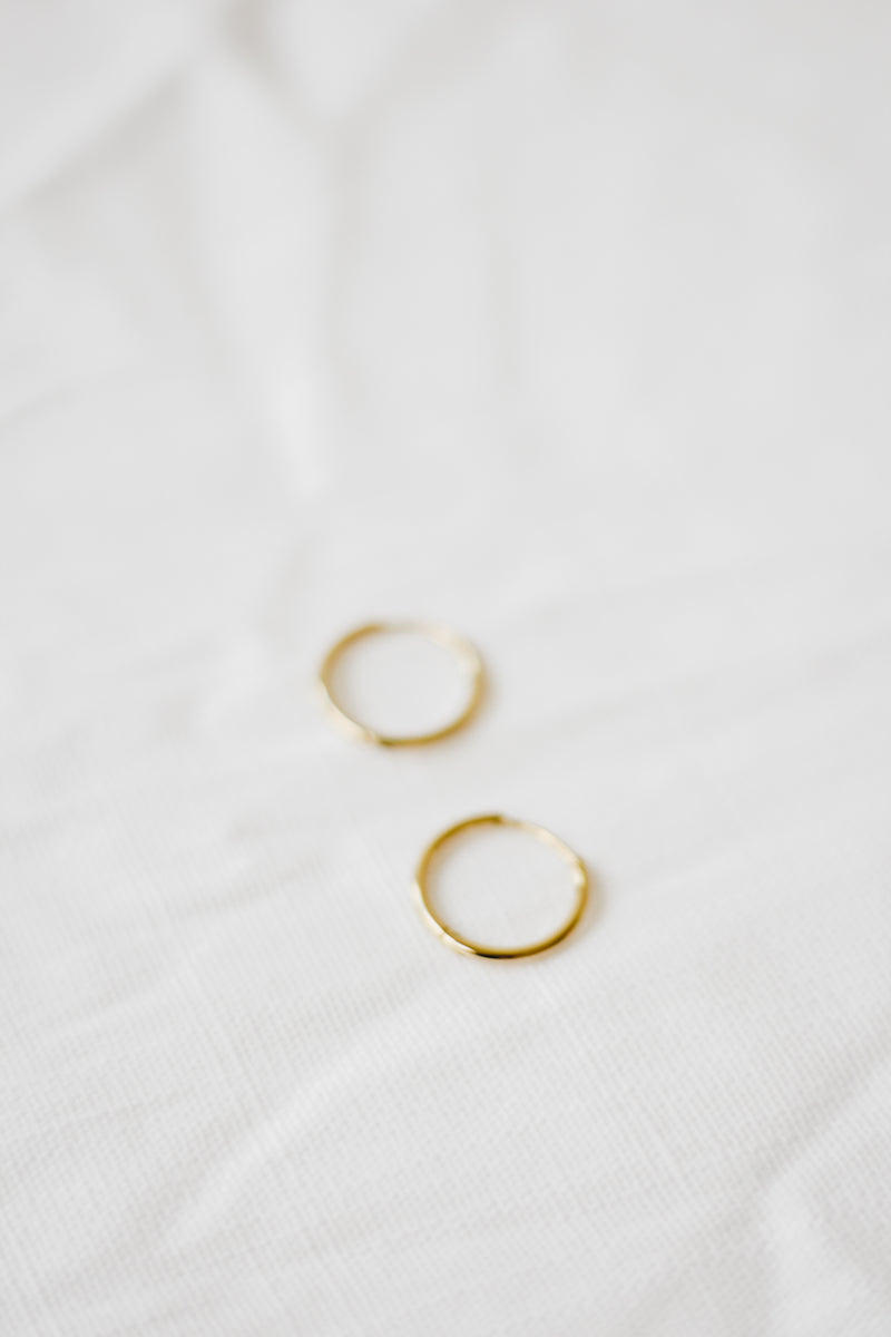 Keep It Simple- Minimalist Gold Hoops