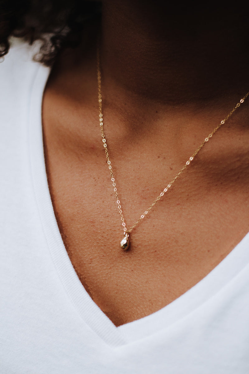Fleck Of Gold - tiny gold necklace