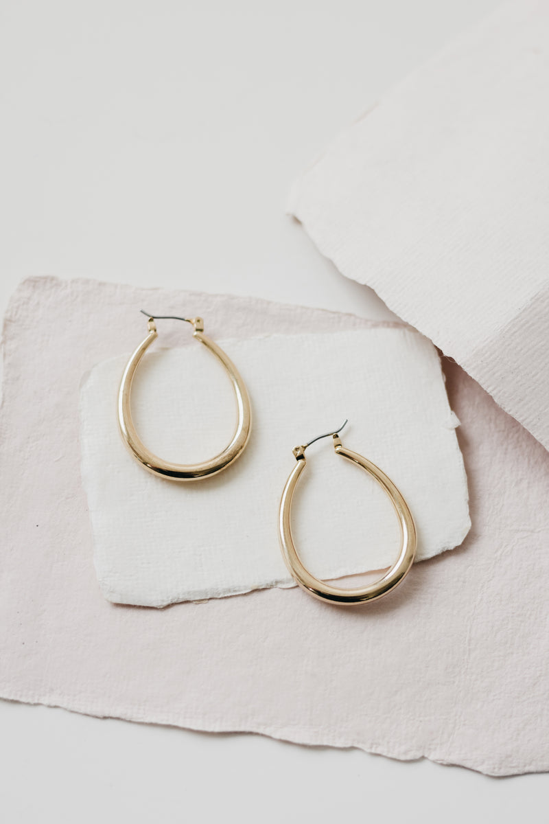 You Ain't Never Had a Hoop Like Me - Gold Ovalesque Hoops