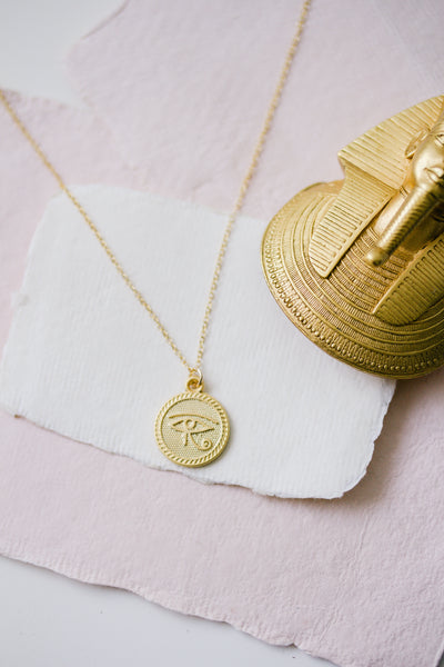 Eye of Horus Gold Necklace