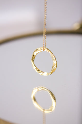 Ring Of Fire Eternity Necklace