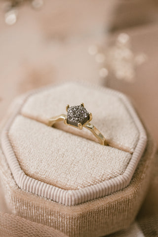 Pentagon Druzy Ring - 2 colors