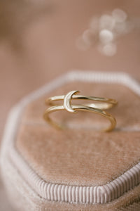 Xena Double Band Moon Ring