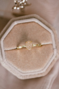 Oval Sparkling Champagne Druzy Ring