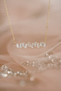 Mila Baguette Bar Necklace