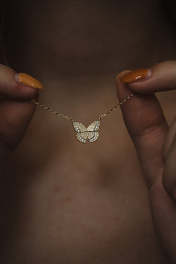 Magical Gold Butterfly Necklace