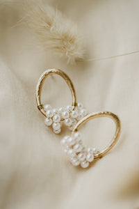 Madeleine Oval Pearl Wrapped Earrings