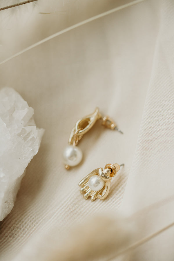 Holding Pearls Of Wisdom Earrings