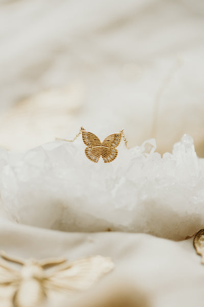 Magical Gold Butterfly Necklace - PREORDER