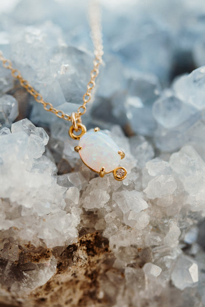 Ajai Minimal Opal Necklace