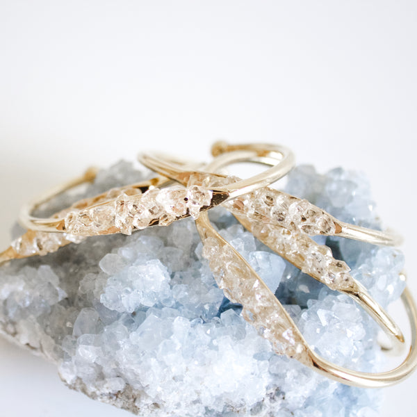 Boho Cuff || Herkimer Diamonds