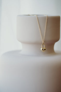 Mon trésor tiny heart lock necklace