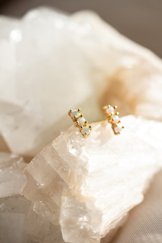 Dream With Me Tiny Opal Trio Studs