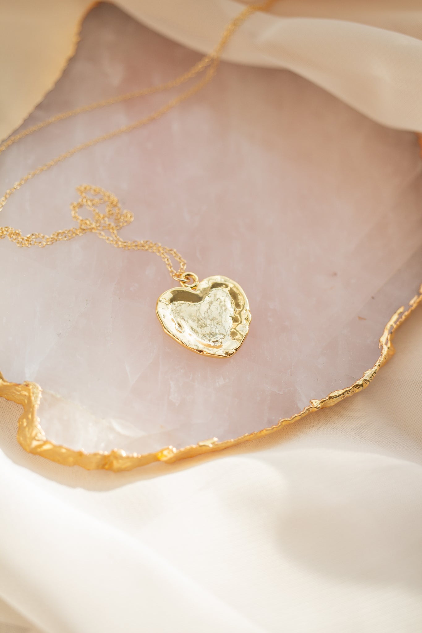 When In Rome Vintage Gold Heart Necklace