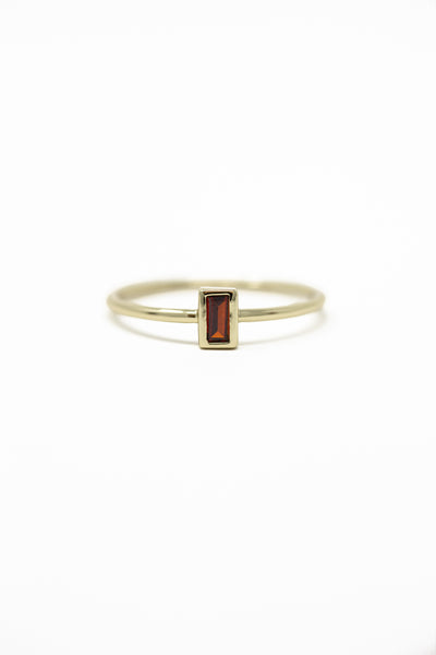 January Birthstone Ring | Garnet