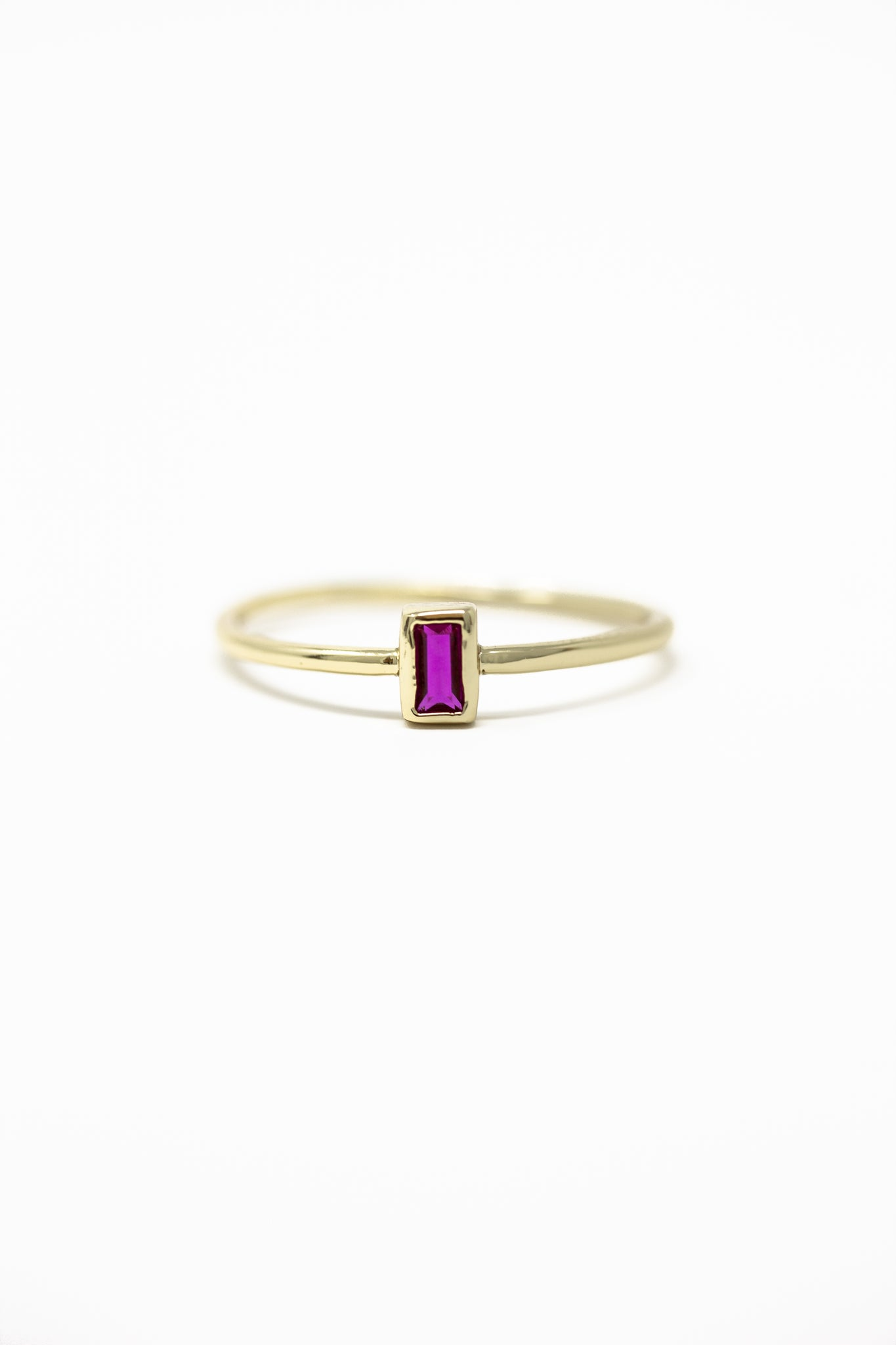 July Birthstone Ring | Ruby