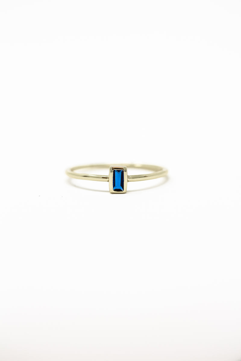 December Birthstone Ring | Blue Topaz