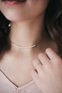 Line of Pearls Choker