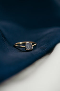 Raw Sapphire Ring - September Birthstone Ring