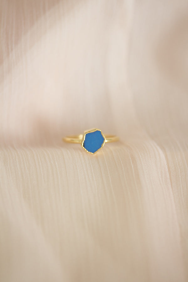 Raw Turquoise Ring - December Birthstone Ring