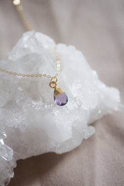 February Birthstone Necklace | Amethyst