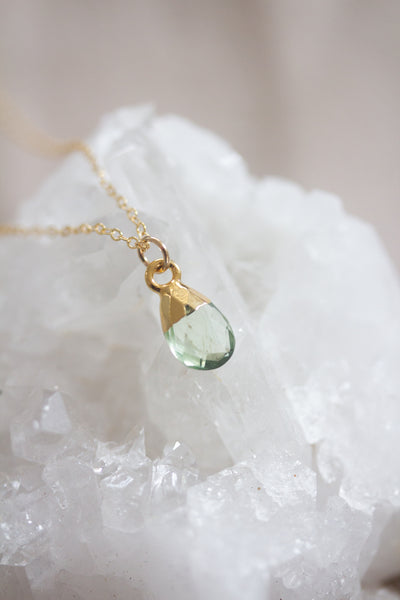 August Birthstone Necklace | Peridot