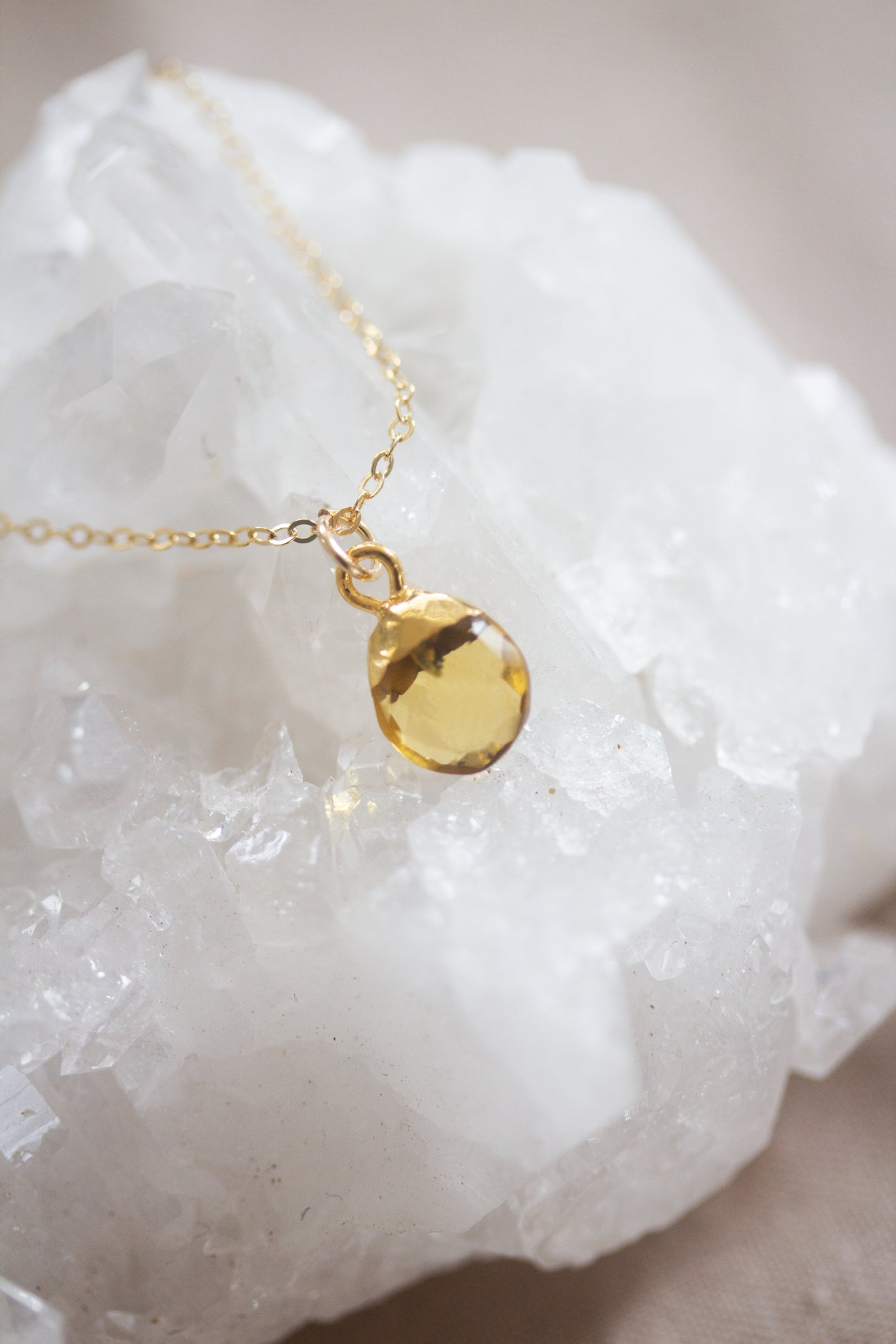 November Birthstone Necklace | Citrine