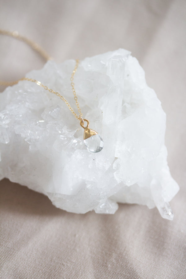 April Birthstone Necklace | Quartz