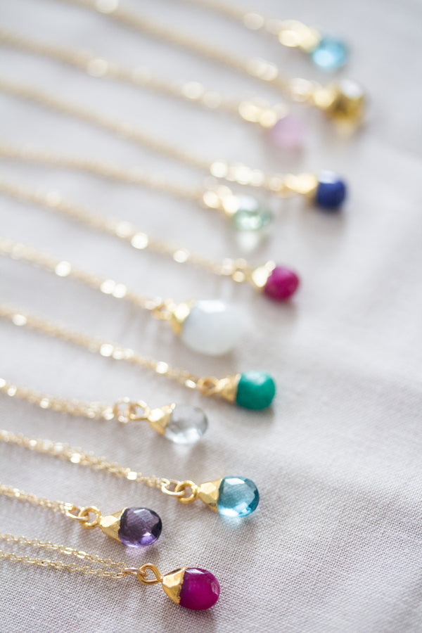 May Birthstone Necklace | Emerald