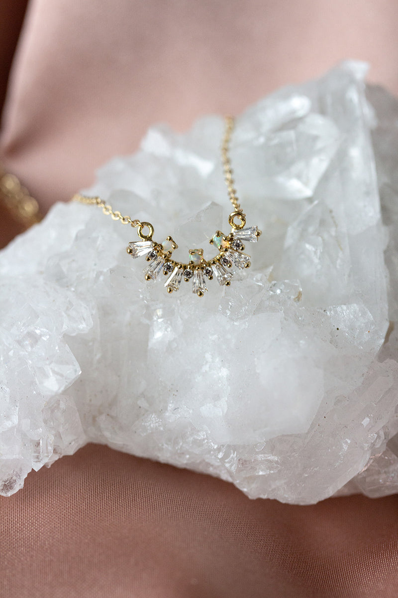 Lana Opal and Baguette Necklace