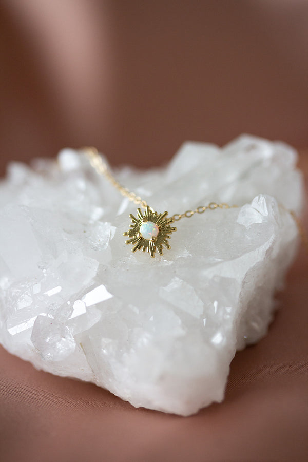 Marisol Sunburst Opal Necklace