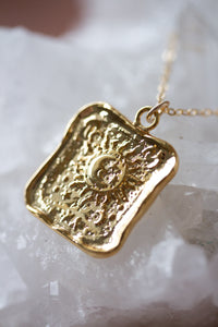 Vintage Sun Pendant Necklace
