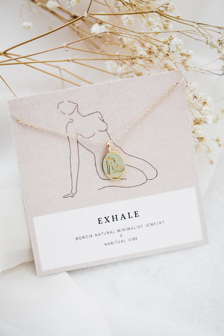 Exhale Line Drawing Necklace