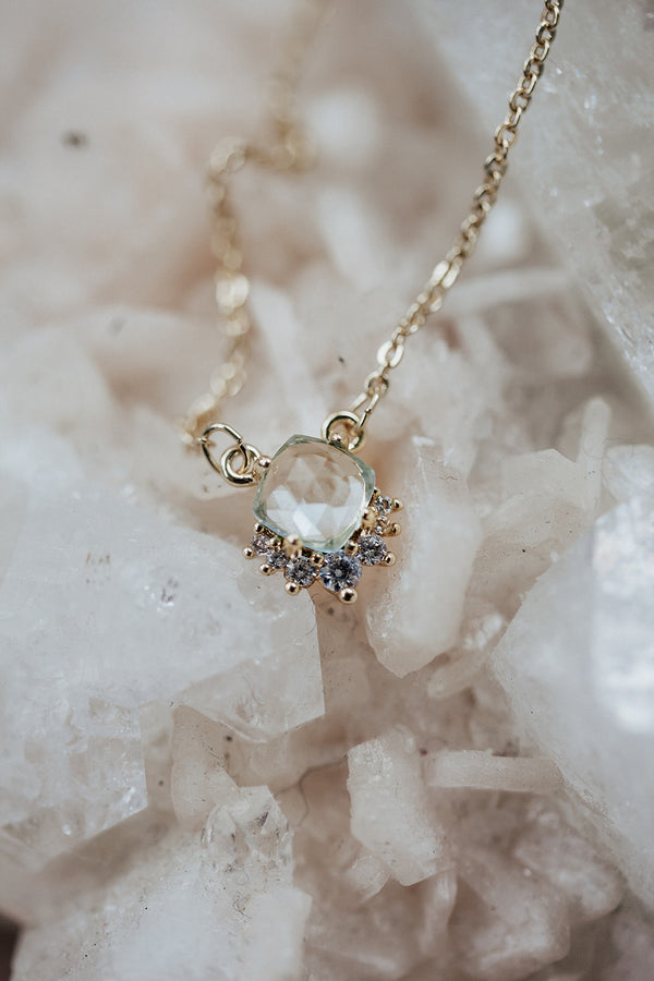 The Cora Blue Topaz Necklace