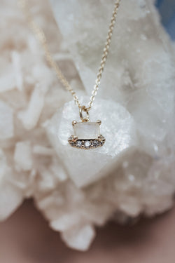 The Ceres Square Moonstone Necklace - two colors