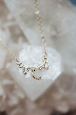 The Rhya Dainty Moonstone Necklace
