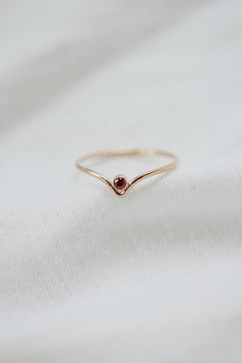 Minimalist January Birthstone Ring