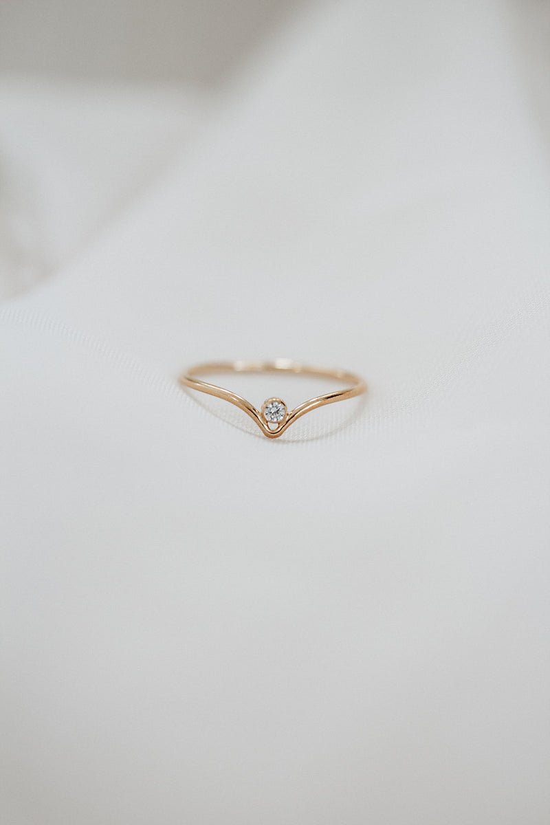 Minimalist March Birthstone Ring