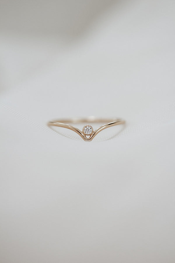 Minimalist April Birthstone Ring