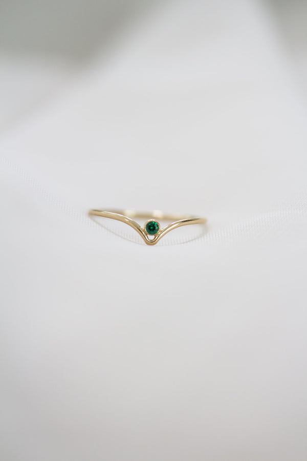 Minimalist May Birthstone Ring