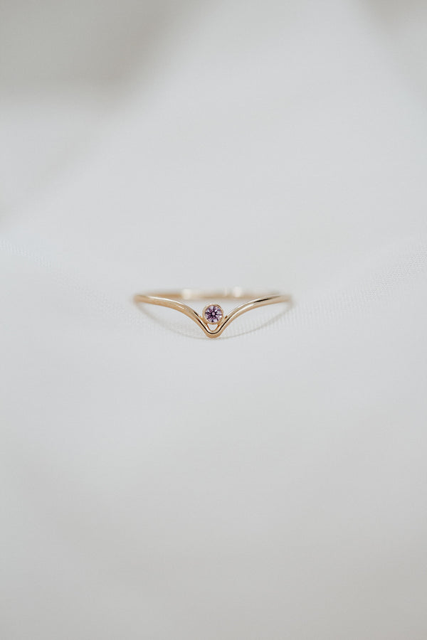 Minimalist June Birthstone Ring