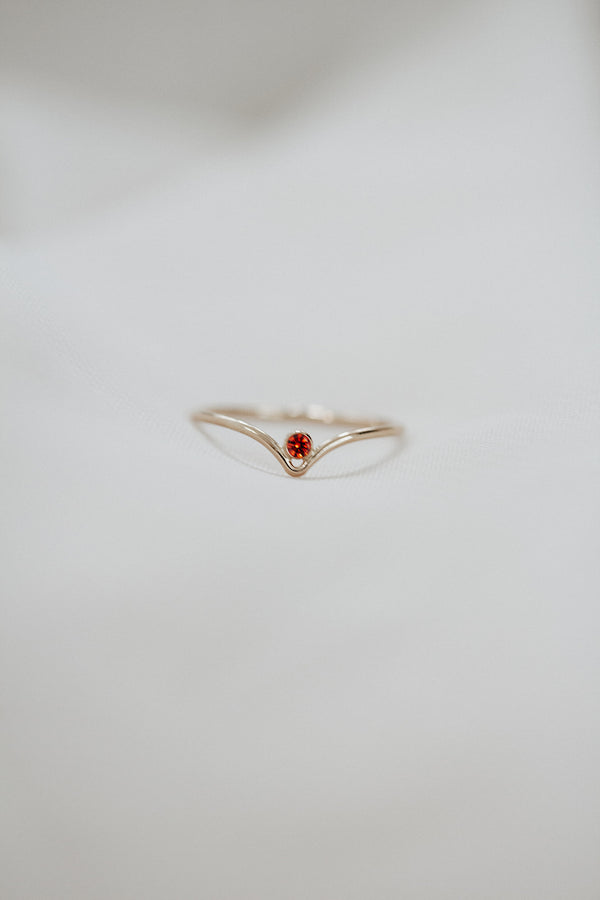 Minimalist July Birthstone Ring