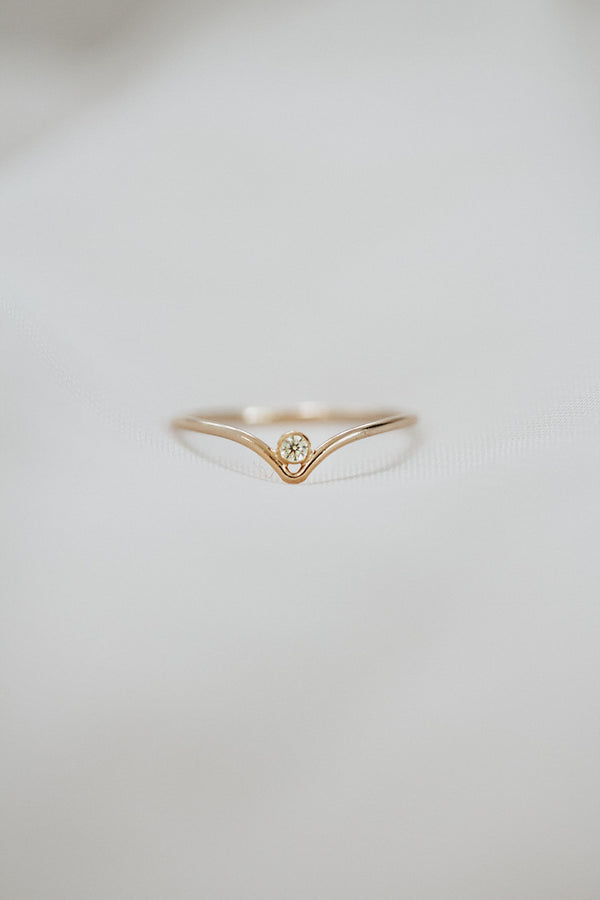 Minimalist August Birthstone Ring