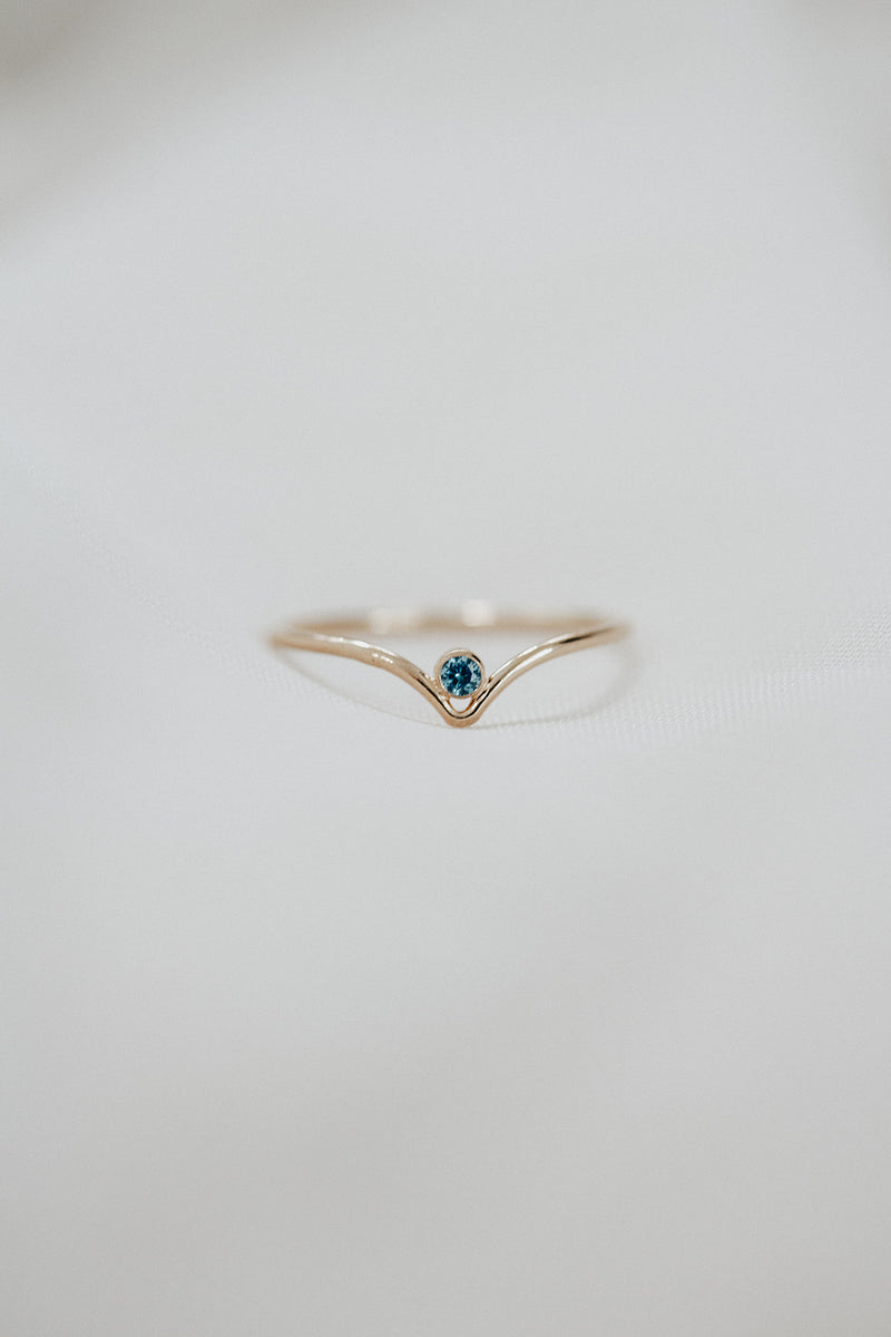 Minimalist September Birthstone Ring