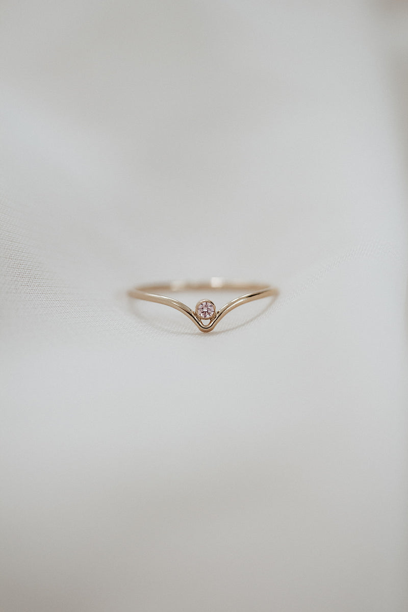 Minimalist October Birthstone Ring