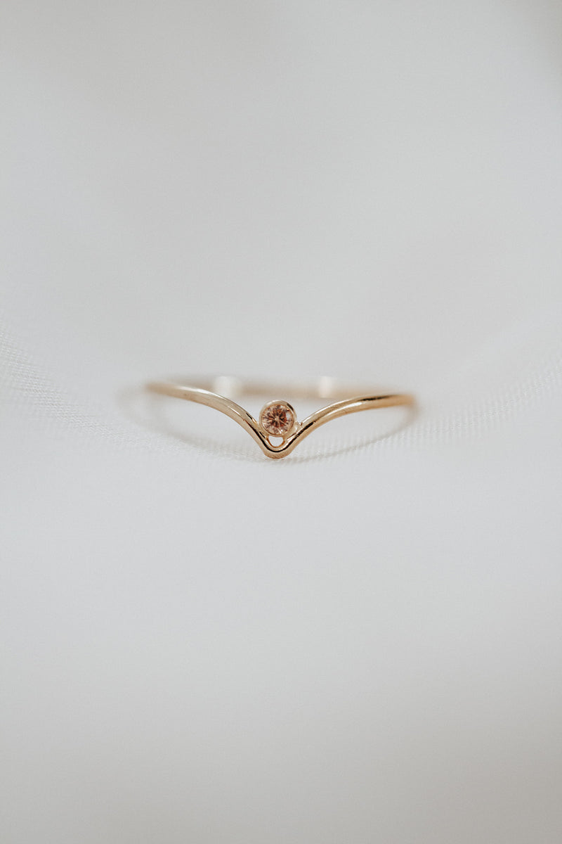 Minimalist November Birthstone Ring